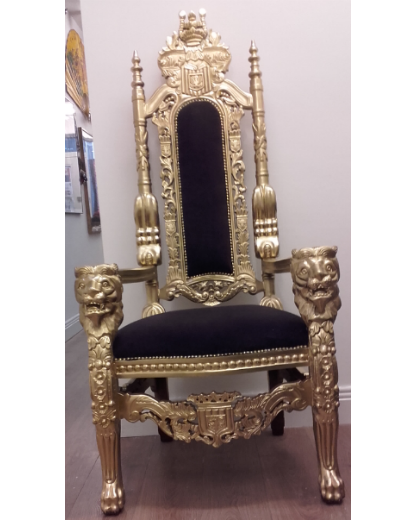 Gold Throne Chair Hire Pair. Price:u20ac275.00 Ex.