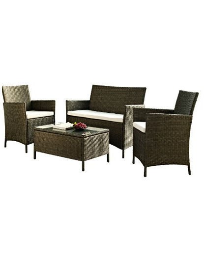 Rattan Garden Furniture Set Cafe Bistro Hire Budget Event Hire