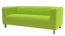 Classic Sofa - Lime Green