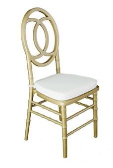 Chanel Chair - Gold with White Seat Padd